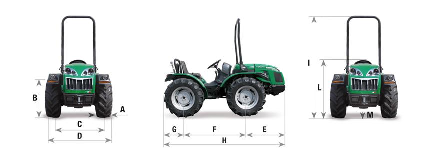 FERRARI Tractor Cromo dimensiones y pesos